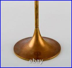 Max Brüel for Torben Ørskov. Five Hi-Fi brass candlesticks. Danish design, 1960s