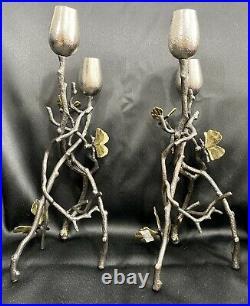 Michael Aram Butterfly Ginkgo Candleholders Set of 2 175791