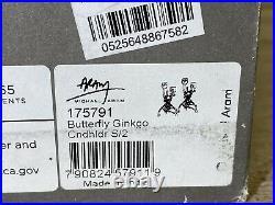 Michael Aram Butterfly Ginkgo Hand Textured Nickelplate Candleholders 175791