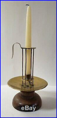 Mid-18th c. Birdcage Stable Candle holder, Lignum vitae & brass, early lighting