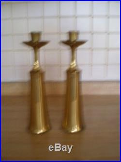 Mid Century Dansk Quistgaard Brass Candle Holders Pair