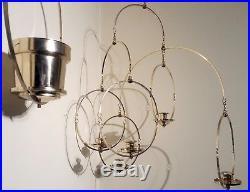 Mid-century Modern Brass Kinetic Candelabra Mobile & Hanging Planter Matched Set