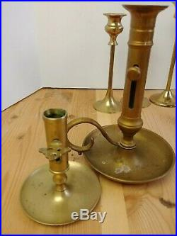 Mix Lot 18 Solid Brass Candlestick Candle Holders Patina Reception Event Rustic