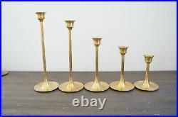 Mixed Brass Lot 18 Candlesticks Holders Wedding Decor Candle Vtg