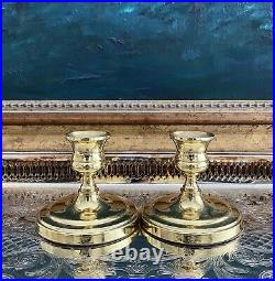 Mixed Lot of 12 Vintage Solid Brass Candle Holders Candlesticks Shiny Baldwin VM