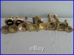 Mixed Lot of 24 Vintage Brass Candle Holders Candlesticks Patina Wedding 13+ lbs