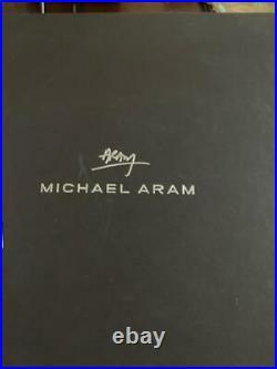NIB Michael Aram Butterfly Gingko Candleholder, Set of 2