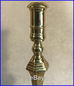 PV05331 Vintage Virginia Metalcrafters Brass PALACE BALLROOM Candle Stick- 2pcs