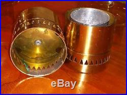 Pair 1960s MCM HANS-AGNE JAKOBSSON Candle Holders MARKARYD with Amber Globes