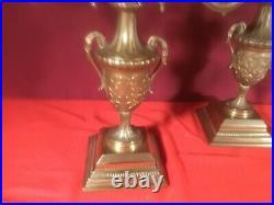 Pair Antique Candelabra Brass