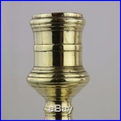 Pair French Brass / Bronze Candlesticks, 18th Century with Monogram Estate Find