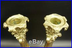 Pair Of Candleholders, Period Napoleon Iii, Era 19th Bronze French Antique
