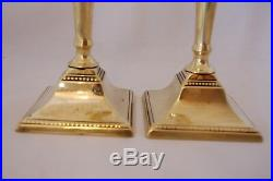 Pair Of English Neoclassical Brass Candlesticks With Pushup Ejectors C. 1780