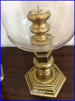 Pair Of Ralph Lauren Brass Hurricane Candle