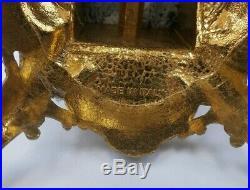 Pair Vintage Brevettato Candelabras Italian Italy Brass/Bronze Cherub Baroque