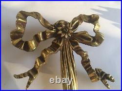 Pair Vintage Metal Brass 2 Arm Candle Style Sconces Gold Finish H 22 #1 Of 3