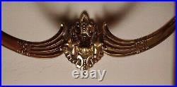 Pair of Antique Wall Art Deco Sconces Solid Brass Candle Holders 6 x15