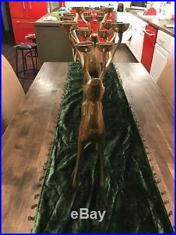 Pottery Barn Brass Deer Candle Holder Reindeer Candelabra Christmas Decoration