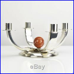 Quist Art Deco Modernist Candle Holder Candelabra Bakelite Ball Bauhaus Era