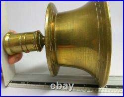 RARE Antique 17th Century Pair of Brass CAPSTAN CANDLESTICKS