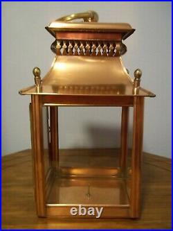 RARE! Colonial Williamsburg Virginia Metalcrafters copper and brass lantern