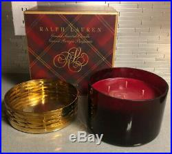Ralph Lauren HOLIDAY 4 Wick 42 OZ 1190 ge Grand Scented Candle Brass Holder