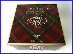 Ralph Lauren HOLIDAY 4 Wick 42 OZ- 1190 ge Grand Scented Candle Brass Holder