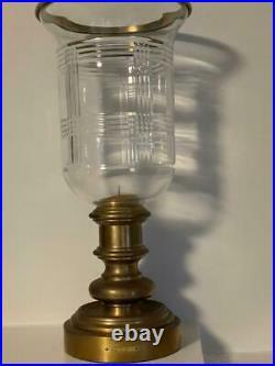 Ralph Lauren Home Glen Plaid Hurricane Lamp Bronze Finish