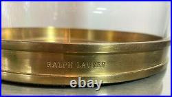 Ralph Lauren Medium Modern Hurricane Candle Holders in Brass 12 x 9