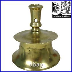 Rare Antique 16th / 17th Century Brass Spanish Capstan Candlestick Candle Holder