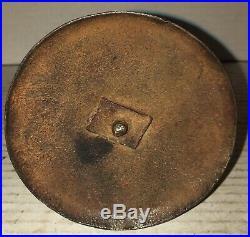 Rare Hog Scraper Triple Wedding Ring Candlestick Hogscraper Candle Stick Brass