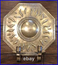 Repousse SWEDEN BRASS WALL SCONCE by Torbjorn Testad Candle Holder