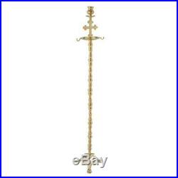 Solid Brass Candle Holder Censer Stand with Cross Christian Orthodox Church
