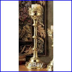 Solid Brass Church Candle Holder 19 Chartres France Cathedral French Gothic
