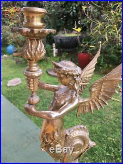 Solid Brass Mermaid Candle Holder