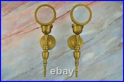 SteamPunk Metal Magnifying Glass Candle Holder Wall Sconce w. Brass Finish DECOR