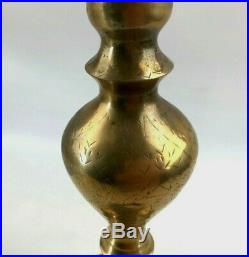 Tall 40 Vintage Brass Candelabra Candlestick Candle Holder Beautiful Etching