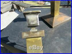 VINTAGE 1920's MISSION / ARTS AND CRAFTS BRADLEY AND HUBBARD CANDLESTICKS #205