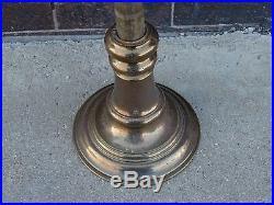 Victorian Antique Church altar brass adjustable 7 lighter candelabra Candlestick