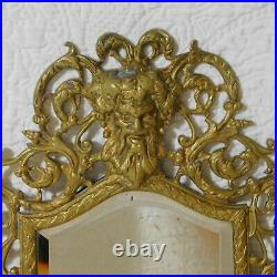 Vintage 16 Brass BACCHUS Wall Sconce double candle holder mirror Baroque style