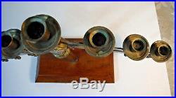 Vintage Adjustable Ornate Brass 7 Candle Candelabra Church Wedding Alter Heavy