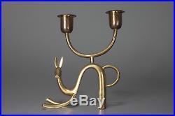 Vintage Art Deco HAGENAUER AUSTRIA Brass Candleholder