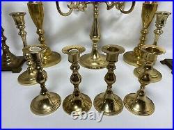 Vintage Brass Candle Holder Lot Candlestick Candelabra Events Parties Wedding 20