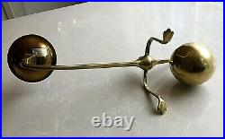 Vintage Brass Candleholder Rare Sarreid Ltd Benson Counterbalance Ball Christmas