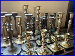 Vintage Brass Candlesticks Candle Holders 22 Lot 11 Pairs Wedding Event Decor