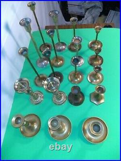 Vintage Brass Candlesticks Holders Wedding Home Decor 20pc Lot