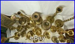 Vintage Brass Candlesticks Taper Candle Holder Wedding Party Boho Decor Lot/20