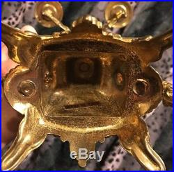 Vintage Brass Italian Candelabra 17 4 Arm-5 Candle