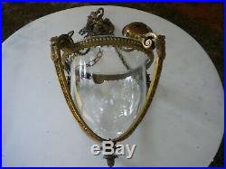 Vintage Brass Ornate Hanging Chandelier Ceiling Fixture Candle Holder with Chains
