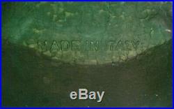 Vintage Brevettato Like Black Marble And Brass 7 Point Candelabra